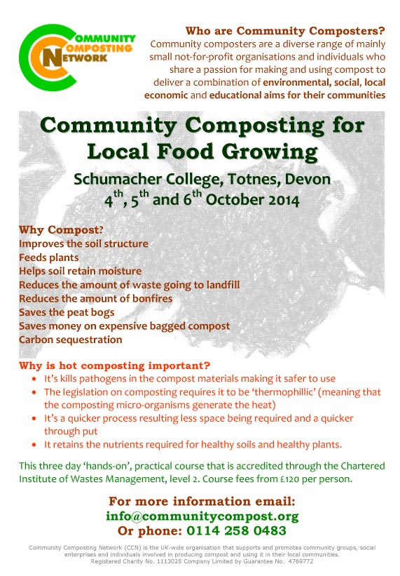 Devon composting course poster